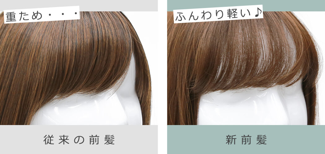 前髪のふんわり感比較