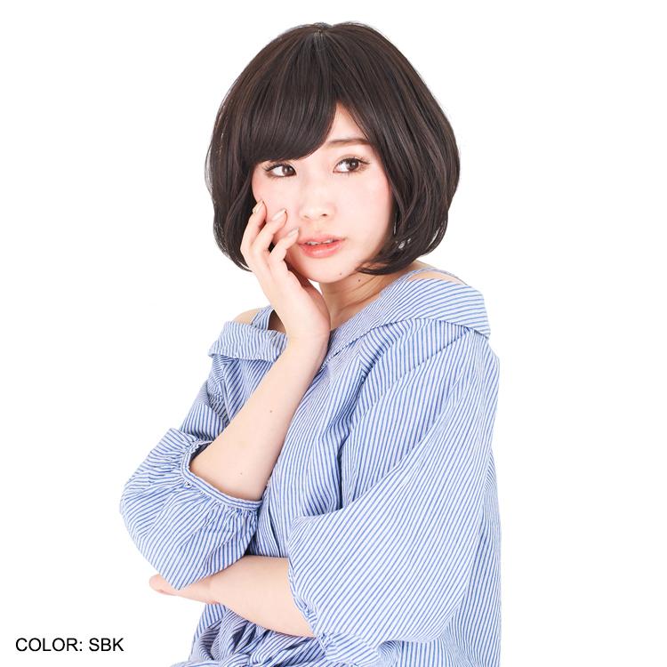 アクアドールのファッションフルウィッグ、「似あわせレイヤーボブウィッグ」のカラーSBKです。