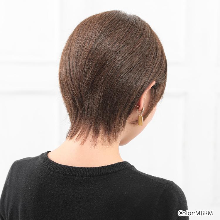 サイドからのシルエットを美しく見せるため、後頭部の丸みの位置もこだわった医療用ウィッグです。