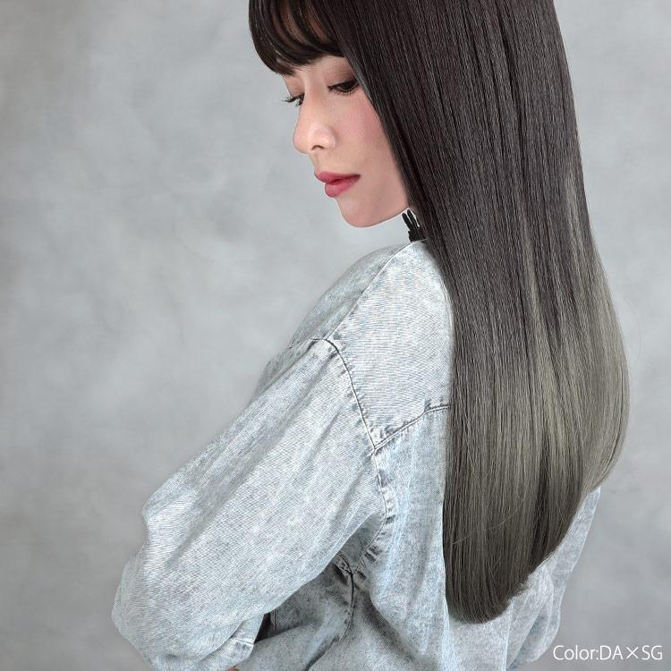 自毛では毎日のお手入れが大変なストレートもこのアクアドールの生まれ変わったファッションウィッグ、「リラクシーロングウィッグ」を使えばかんたんに毎日キレイをキープできちゃいます♪