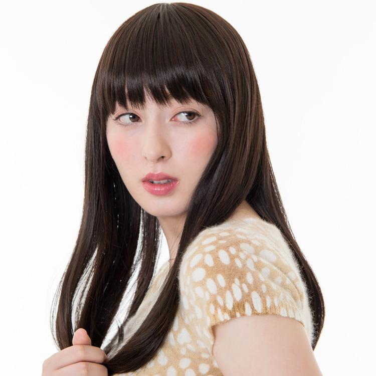 アクアドールのファッションフルウィッグ、「スイートワンカールミディアムウィッグ」のカラーSBKです。