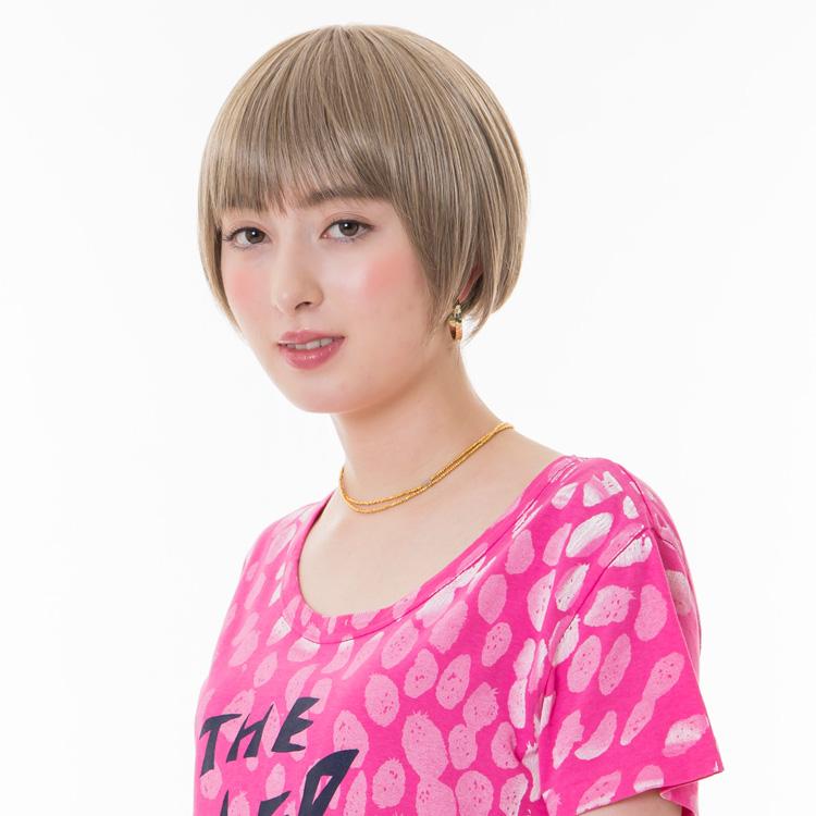 アクアドールのファッションフルウィッグ、「小顔ナチュラルショートウィッグ」のカラーHKAHです。