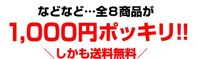 全8商品が1000円ポッキリ