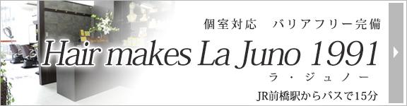 ウィッグカットやサイズ調整などのケアは、バリアフリー完備のHair makes La Juno 1991(ラ・ジュノー)にお任せください。