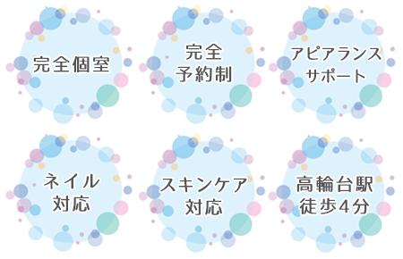 東京のAQUADOLL提携美容室 ESTHEのサービス