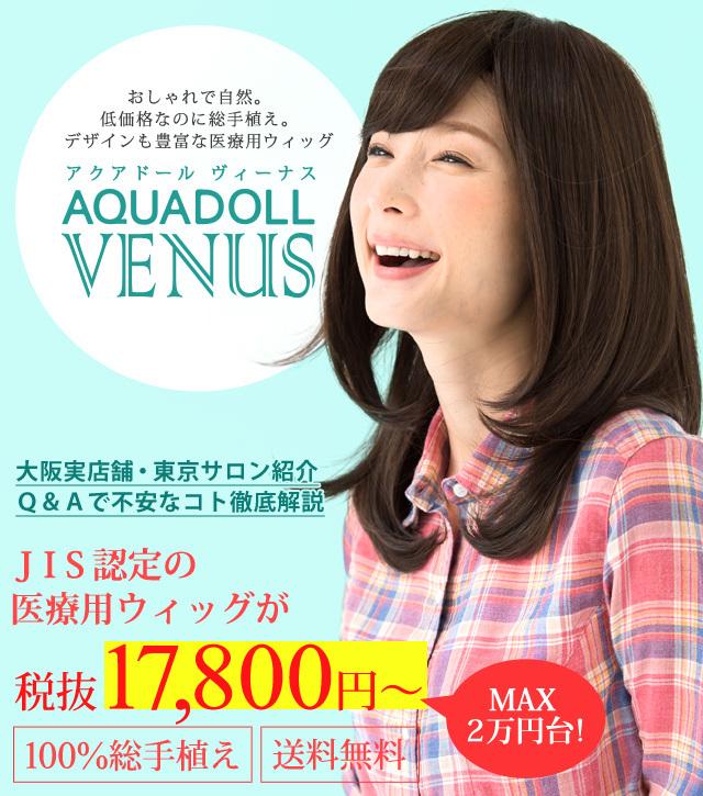 JIS認定の医療用ウィッグが17,800円~!!