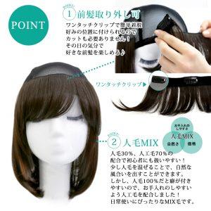 【医療用ウィッグ】頭頂部が通気性の良いネットになった便利な髪付き帽子